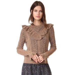 Ulla Johnson Maritza Cashmere Ruffle Knit Sweater